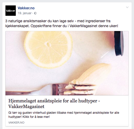 Bergstrøm Innholdsmarkedsføring Vakker.no